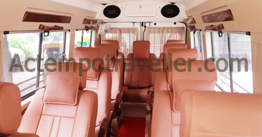 rishikesh tour by 11 seater deluxe 1x1 tempo traveller