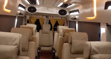 rishikesh tour by 12+1 seater deluxe 1x1 tempo traveller